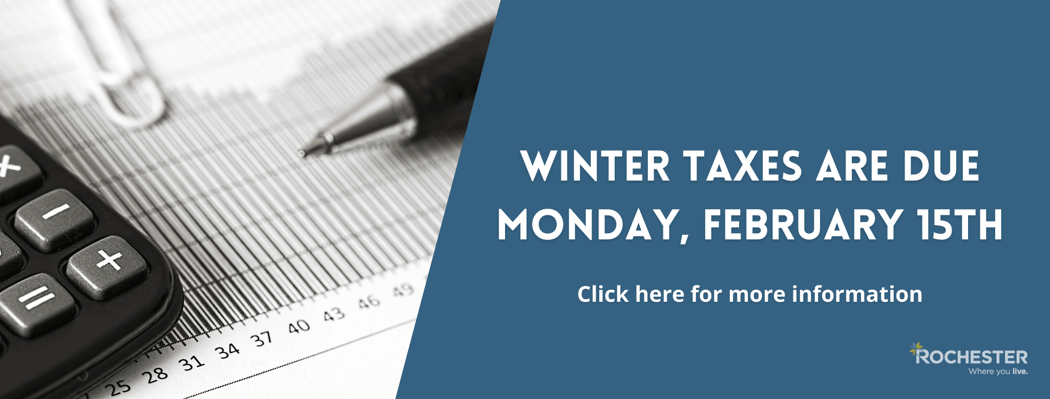 Winter Taxes Due Monday February 15th